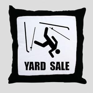 Ski Yard Sale Throw Pillow