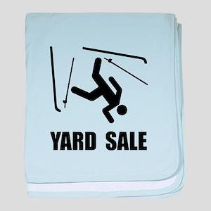 Ski Yard Sale baby blanket