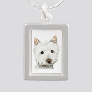 Cute West Highland White Terrier Dog Silver Portra