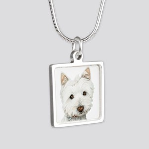 Cute West Highland White Terrier Dog Silver Square