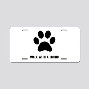Walk Pet Aluminum License Plate