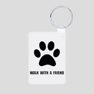 Walk Pet Aluminum Photo Keychain