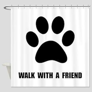 Walk Pet Shower Curtain