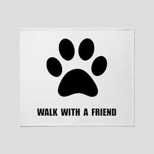 Walk Pet Throw Blanket