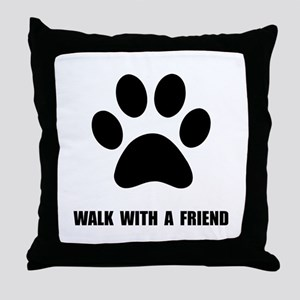 Walk Pet Throw Pillow