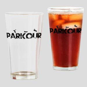 Parkour Crew Drinking Glass