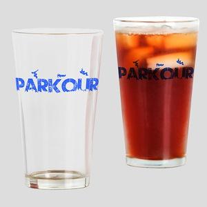 Parkour Crew, Blue, Drinking Glass