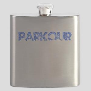 Blue, PARKOUR, Aged, Flask