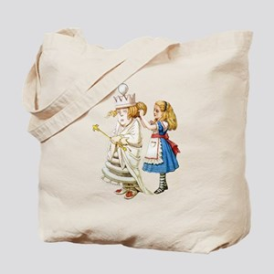 Alice Meets The White Queen Tote Bag