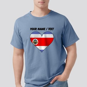 Custom Costa Rica Flag H Mens Comfort Colors Shirt