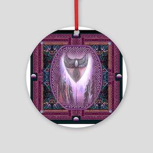 Winged Heart Mandala Ornament (Round)