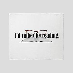 Rather Read Throw Blanket