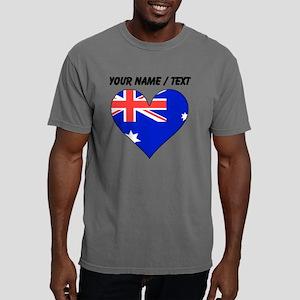 Custom Australia Flag He Mens Comfort Colors Shirt