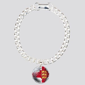 English 3 Lions Football Charm Bracelet, One Charm