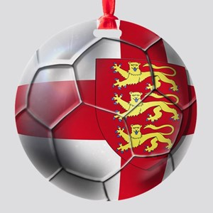 English 3 Lions Football Round Ornament