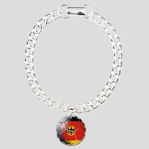 German Soccer Ball Charm Bracelet, One Charm