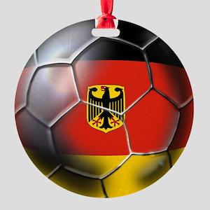 German Soccer Ball Round Ornament