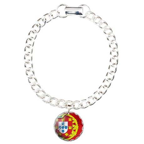 Portuguese Football Soccer Charm Bracelet, One Cha
