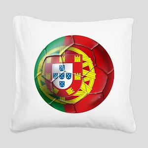 Portuguese Football Soccer Square Canvas Pillow