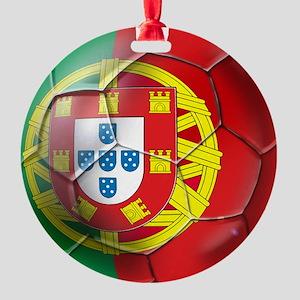 Portuguese Football Soccer Round Ornament
