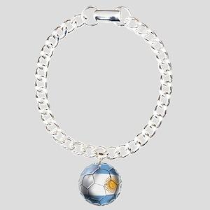 Argentina Football Charm Bracelet, One Charm