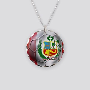 Peru Futbol Necklace Circle Charm