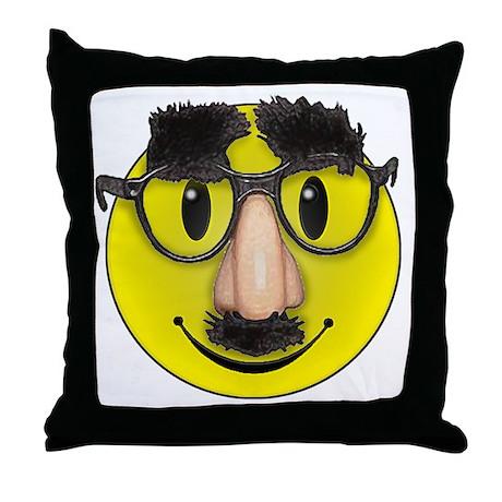 Smiley Disguise Throw Pillow