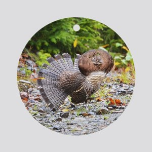 Ruffed Grouse Ornament (Round)