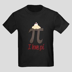 I Love Pi Kids Dark T-Shirt
