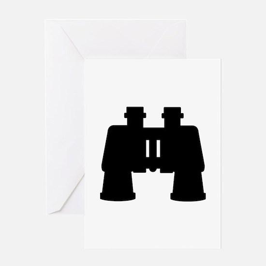 Binoculars Greeting Card