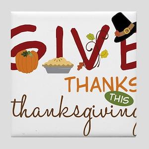 Thanksgiving Tile Coaster