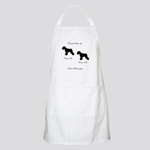 2 Schauzers - Cropped Tails/Natural Ears Apron