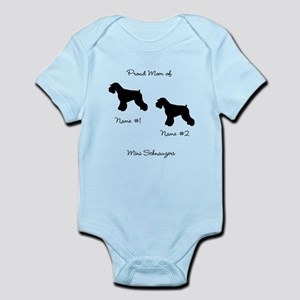 2 Schauzers - Cropped Tails/Natural Ears Infant Bo