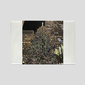 Christmas Tree - Rockefeller Center Rectangle Magn