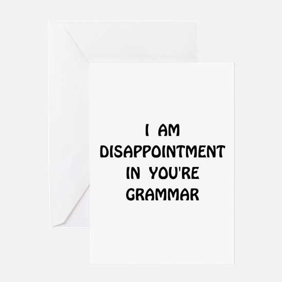 Disappointment Grammar Greeting Card