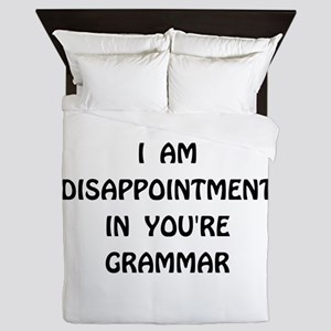 Disappointment Grammar Queen Duvet