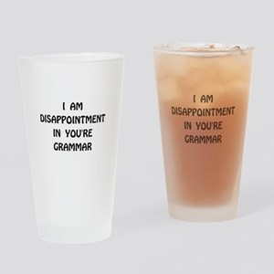 Disappointment Grammar Drinking Glass