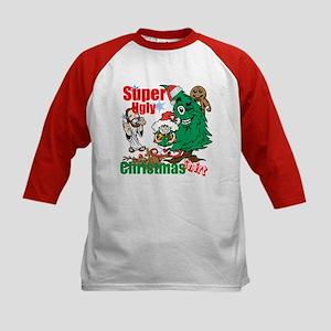 Super Ugly Christmas Shirt Kids Baseball Jersey