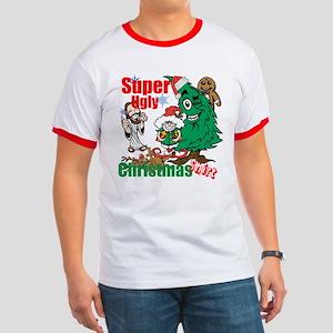 Super Ugly Christmas Shirt Ringer T