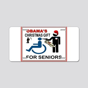OBAMA GIFT Aluminum License Plate
