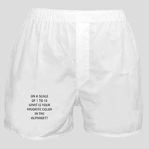 Favorite Color Alphabet Boxer Shorts
