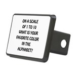 Favorite Color Alphabet Rectangular Hitch Cover