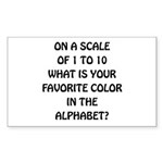 Favorite Color Alphabet Sticker (Rectangle 50 pk)