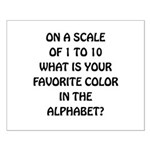 Favorite Color Alphabet Small Poster