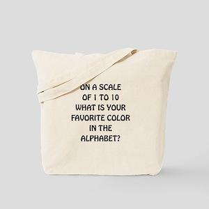 Favorite Color Alphabet Tote Bag