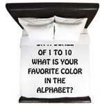 Favorite Color Alphabet King Duvet