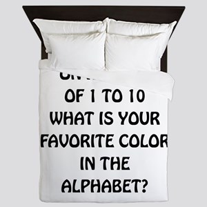 Favorite Color Alphabet Queen Duvet