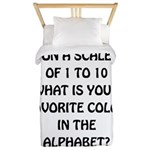 Favorite Color Alphabet Twin Duvet
