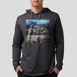 Tropical sea #3 5x5 ray_300edite Mens Hooded Shirt