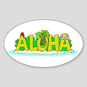 Aloha Oval Sticker